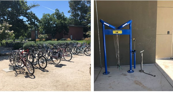 Bicycle racks at the International Center