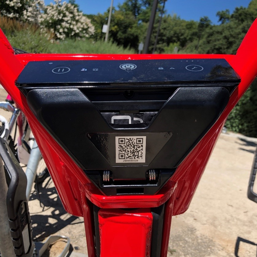 QR code reader in the jump bikes.