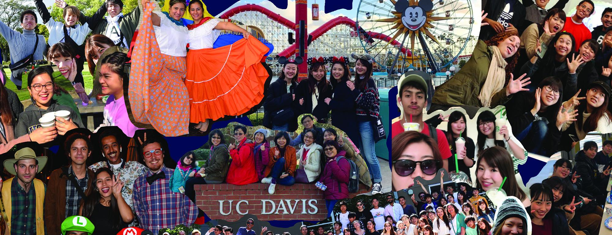 collage of international English students at UC Davis