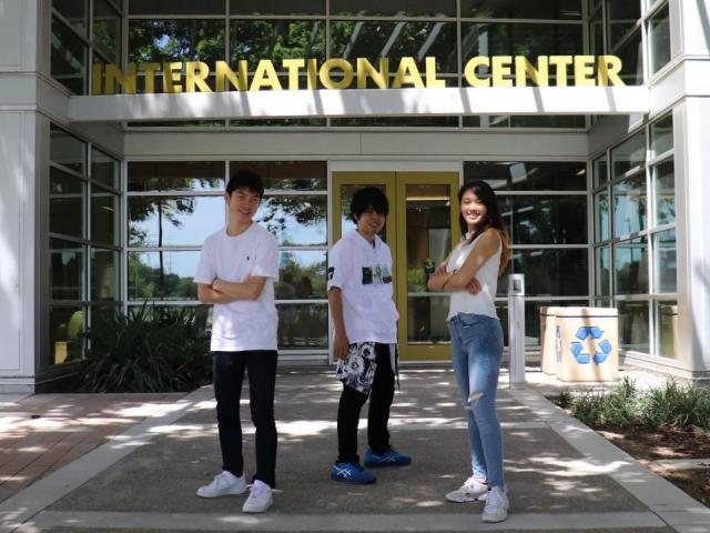 students outside international center